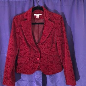 Red patterned jacket by Nine West